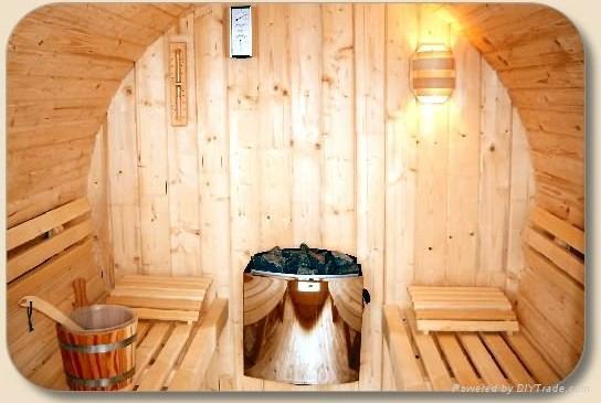 6persons New-designed barrel Sauna room  3