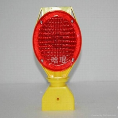 Red led Solar Warning sign light Model HK-JL330