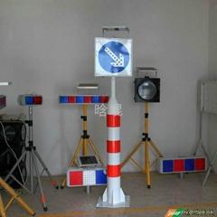 太陽能警示柱帶右下行標誌牌