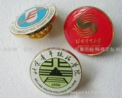 Shanghai Zhnis school badge, emblem, flag custom; custom Lapel Pin Badge making