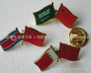 Shanghai Zhnis school badge, emblem, flag custom; custom Lapel Pin Badge making 2