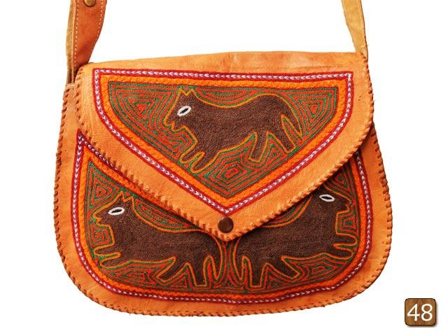 Barmer leather bag with aari work  2
