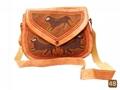 Barmer leather bag with aari work  3