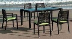 ARTIE GARDEN outdoor PE wicker dining table set