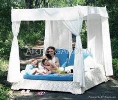ARTIE GARDEN outdoor PE wicker cabana