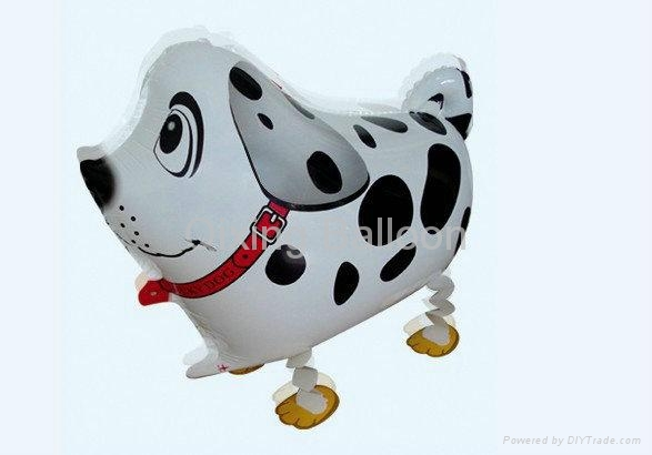 walking dog pet foil balloon 1