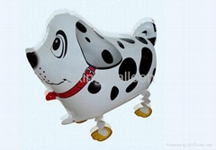 walking dog pet foil balloon