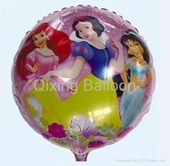 round foil printed balloon festival decoration