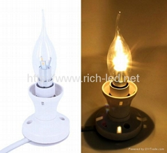 led candle bulb/chandelier bulb replace house lighting
