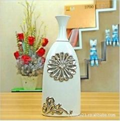 鏤空鑲鑽花插花器仿古花瓶