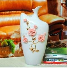 欧式宫廷风格陶瓷花瓶