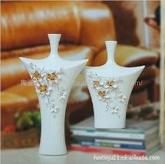 欧式手绘白瓷花插