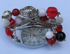 charm bracelet with watch faces