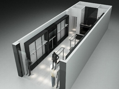 shop inshop design for garment store displays