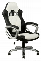 High back luxury swivel and lift racer chair