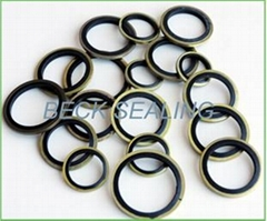 custom rubber bonded washer seals