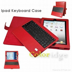 Ipad Bluetooth Keyboard Case(Red)