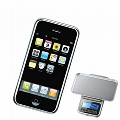 2012 Best Selling Iphone Style Digital Pocket Scale 100g/0.01g