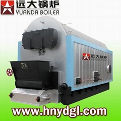 Industrial coal wood fired chain grate steam boiler