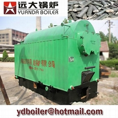 Industrial wood fired steam boiler