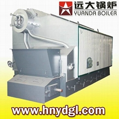 Industrial biomass fired steam boiler
