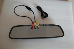 4.3 inch car rear view mirror monitor super slim