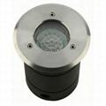 round stainless steel ground light