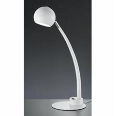 trio lighting bones white table lamp