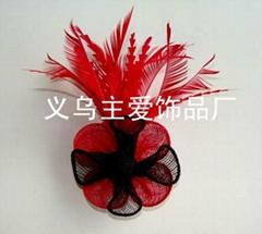 sinamay feather fascinator SFB6105