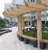 专业生产优质防腐木廊架