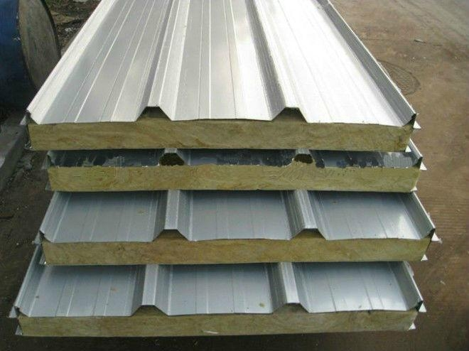 Rockwool Panel Color Corrugated Roofing Steel Sheet Yx40
