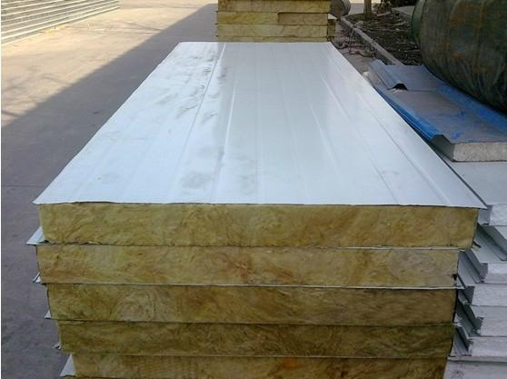 Rockwool panel color corrugated roofing steel sheet yx40 for Fire resistant roofing