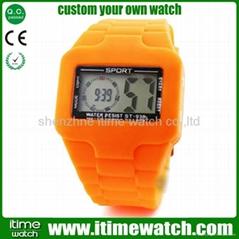 2012 new design silicon digital watch