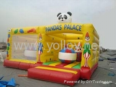 Panda inflatable jump castle bouncy game with sponge bob rentals