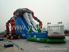 Alien invasion large inflatable slide