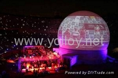 outdoor inflatable white portable projection dome