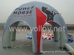 Inflatable spider dome tent for advertising during festivals