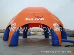 Inflatable spider dome with 6 air columns for promotion event
