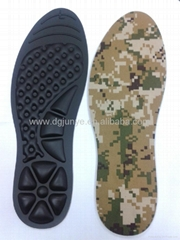 Back and leg pain reduced inflatable insole