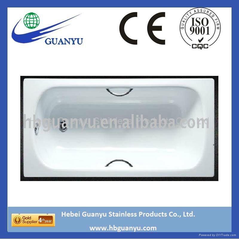 Enameled Steel Bathtub And Shower Tray 1