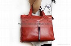Genuine leather lady handbag