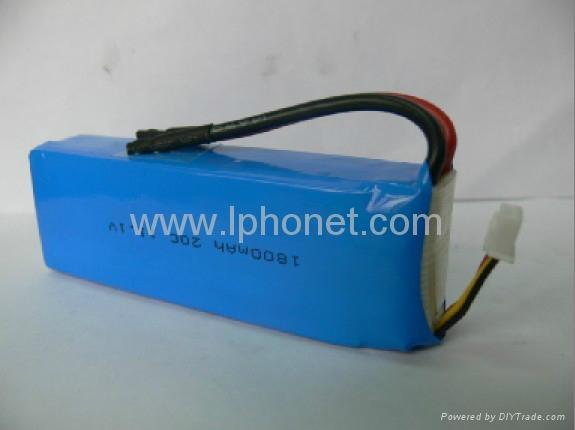 1800mAh 7.4v-22.2v 20C-45C lipo battery 1