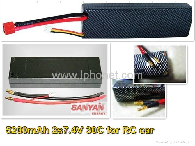 1800mAh 7.4v-22.2v 20C-45C lipo battery 4