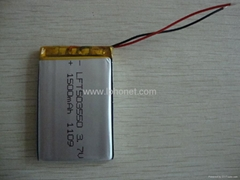 1500mAh 3.7v GPS tracking device battery