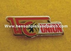 Customized metal badge, lapel pin, football club badge,imitation hard enamel