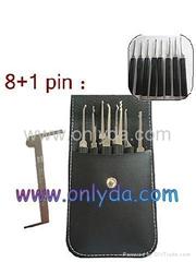 Easy take 8+1 pin lockpick in one bag