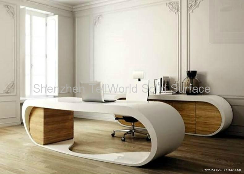 Artificial Stone Solid Surface Pure Acrylic Ceo Desk Office Furniture 1
