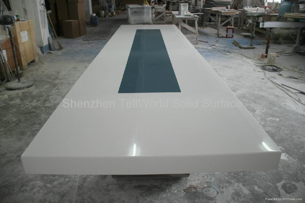 Artificial Stone Solid Surface Pure Acrylic Conference Table TW - Corian conference table