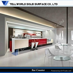 Artificial stone solid surface American style bar counter