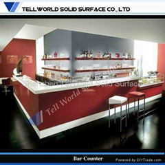 Artificial stone solid surface American style salon reception desk